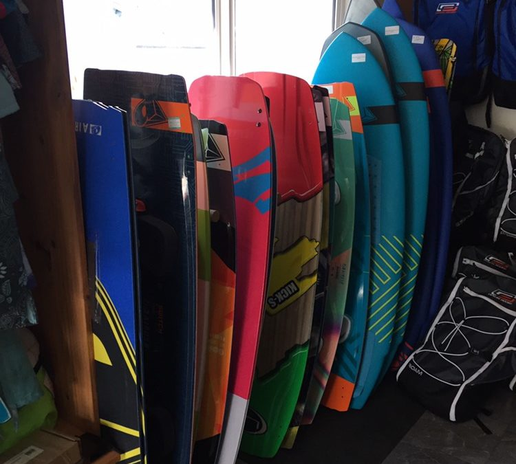 So many different kite boards!