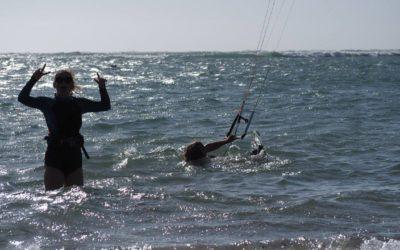 Leaning how to kitesurf – in Auckland, New Zealand